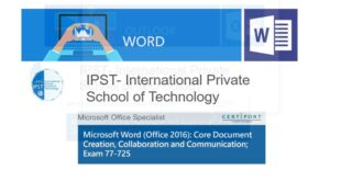 Formation Bureautique Microsoft Word Associate (Microsoft 365 Apps and Office 2019): Exam MO-100