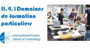 II.4.1Domaines de formation particuliers
